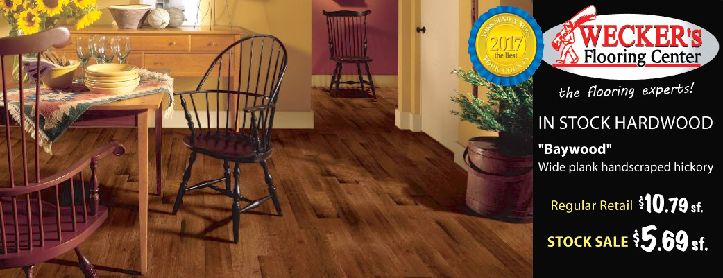 Baywood Hickory in-stock hardwood on sale $5.69 sq.ft.