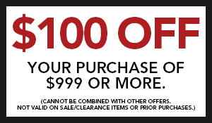 $100 OFF your purchase of $999 or more at Wecker's Flooring Center in York!