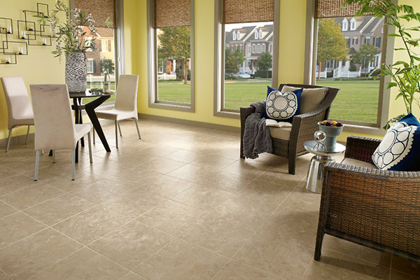 Luxury Vinyl Tile, Alterna, Sistine White