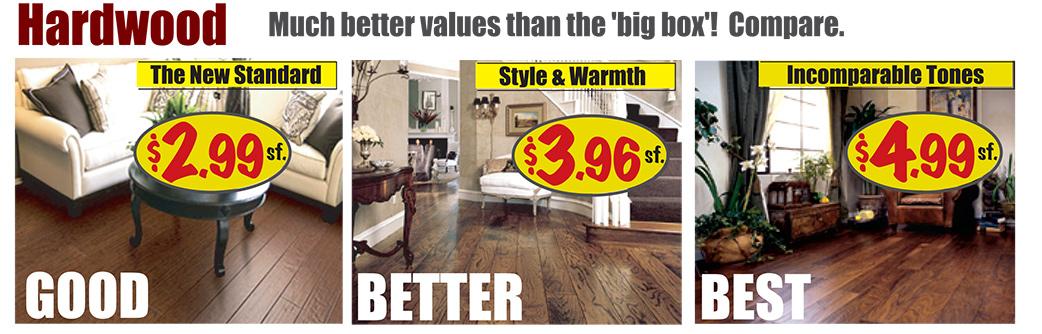 Hardwood Starting at $2.99 sq.ft.