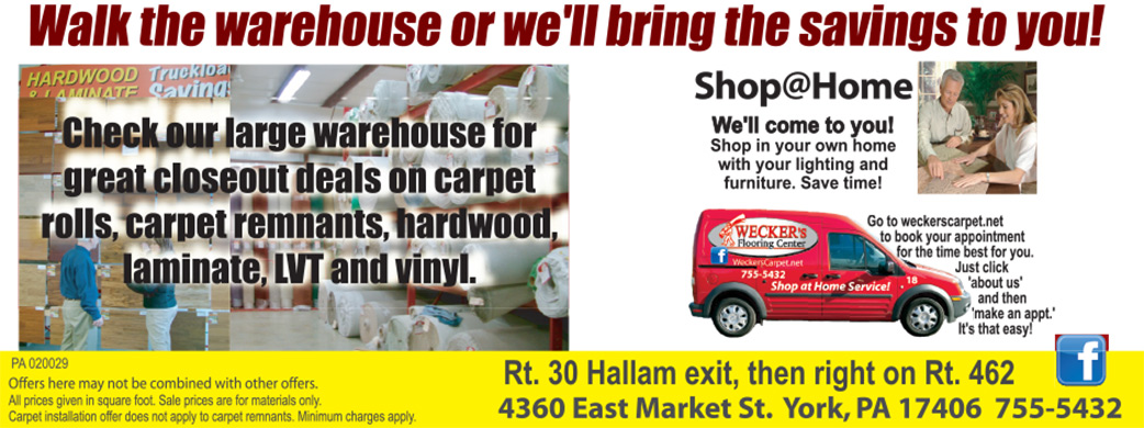 Walk the warehouse or we'll bring the savings to you! - Shop@Home