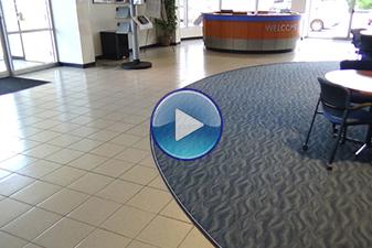 Commercial flooring by Abbey Carpet & Floor at Apple Honda.